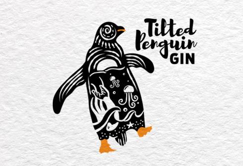 Tilted Penguin Gin